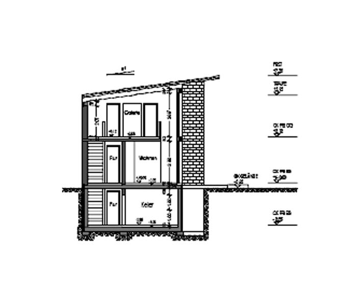 architekt m nch bauantrag schnitt. Black Bedroom Furniture Sets. Home Design Ideas